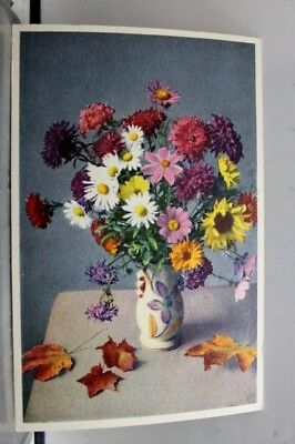 Art Herbstblumen Autumn Flowers Postcard Old Vintage Card View Standard Souvenir
