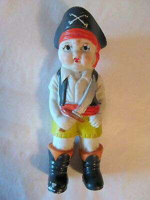 Vintage Bisque Halloween Boy Pirate Trick-or-Treater!
