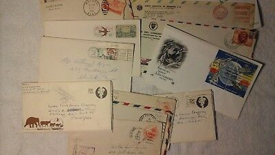 Stamps / Mixed Lot of stamps on envelopes