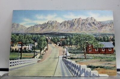 New Mexico NM Las Cruces Organ Mountains Viaduct Postcard Old Vintage Card View