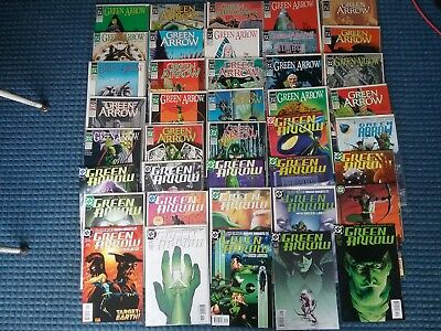 Green Arrow comic lot 40 comics,   Mike grill, some vintage.