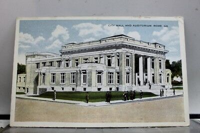 Georgia GA Rome City Hall Auditorium Postcard Old Vintage Card View Standard PC