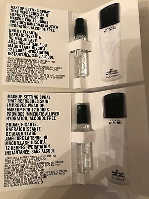 x2 MAC Prep & Prime Fix+ Plus Setting Spray 2.5ml =5ml samples
