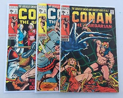 Conan the Barbarian Lot: 2, 3 & 4 Barry Windsor-Smith! Low Distribution Key!