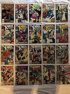 Huge Copper Age Marvel Comic Book Lot Classic X-Men Bagged And boarded F To VF