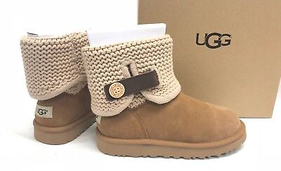 c472cad02e7 UGG AUSTRALIA WOMEN'S Shaina Chestnut Knit Boots NEW 1012534 Cuff Ankle  Booties