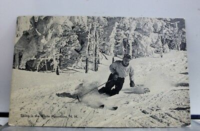 New Hampshire NH White Mountains Skiing Postcard Old Vintage Card View Standard