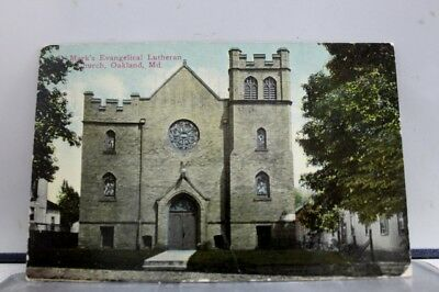 Maryland MD St Mark Lutheran Church Oakland Postcard Old Vintage Card View Post
