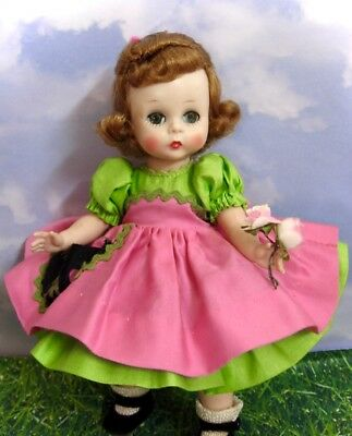"Darling Vintage ""wendy Helps Cutting Flowers"" Kins Doll By Madame Alexander 1955"