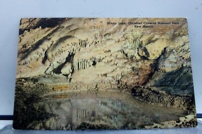 New Mexico NM Mirror Lake Carlsbad Caverns Park Postcard Old Vintage Card View
