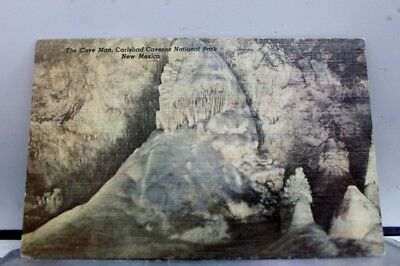 New Mexico NM Cave Man Carlsbad Cavern Postcard Old Vintage Card View Standard