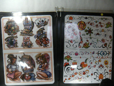 Tattoo Flash Art & 20 Wall mounted Double Sided Panels Various Artists