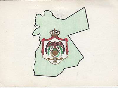 QSL Card JY1 King Hussein signed and mailed from the Royal Palace in Jordan