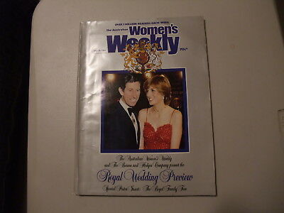 Women's Weekly July 1981 Royal Wedding Preview Plus Poster of Family Tree.
