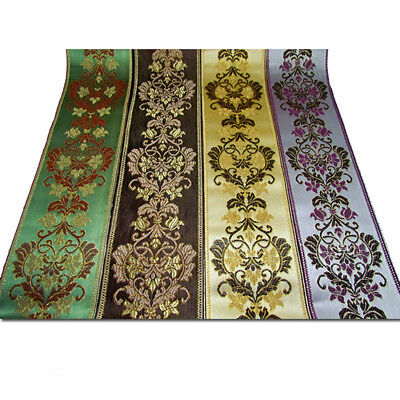 1/5 Meter Floral Fringe Jacquard Ribbon Braid Sewing Lace Trim Fabric Upholstery