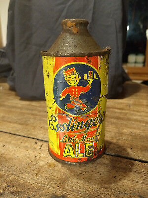 Esslinger's Little man Ale Cone Top Beer can