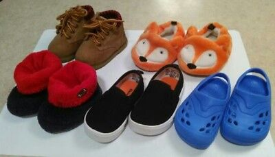 Lot of 5 pairs of Toddler Boy/Girl Shoes, various sizes and brands.
