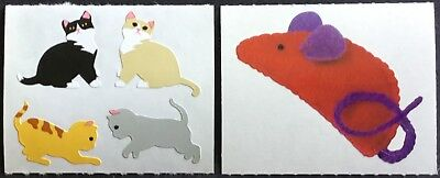 ~ Retired NLA Cat Cats Kitten Pussy Games Mouse Mrs Grossman Stickers ~