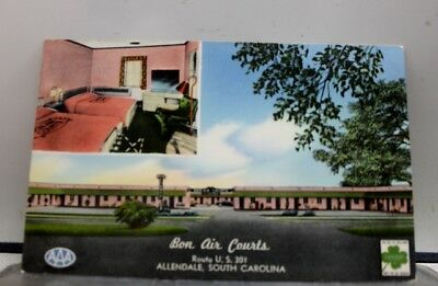 South Carolina SC Bon Air Courts Allendale Postcard Old Vintage Card View Post