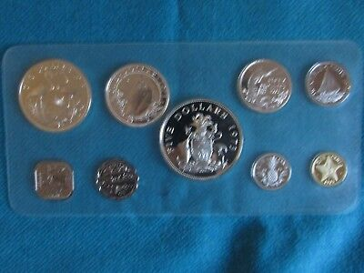 1973 Bahamas Proof Set - 9 Coins - Franklin Mint