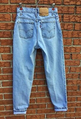 Vintage Levi's 550 High Rise Relaxed Fit Tapered Leg Jeans Women's Sz 7 Long USA