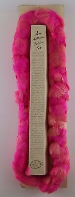 """Vintage 1960s Authenic Feather Lei ~ Feather Products Hawaii ~ Pink 20"""""""