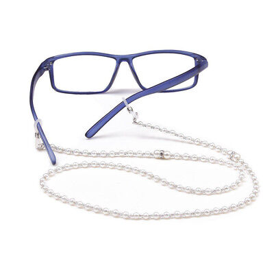 Hot Pearl Beaded Eyeglass Cord Reading Glasses Eyewear Spectacles Chain Holder