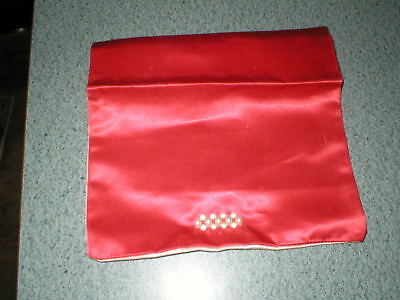 """Vintage Christian Dior Red Hosiery Tissue Clutch Bag Tote 7 1/2"""" Folded x 8"""""""