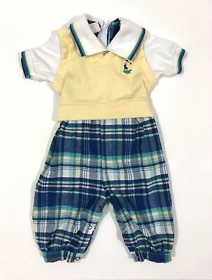 Vintage Baby Boy's Golf Outfit One Piece Good lad USA Made 12-24 Months