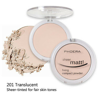 PHOERA Powder Concealer Matte Pearl Finishing Powder Pressed Powder 8 Colors F