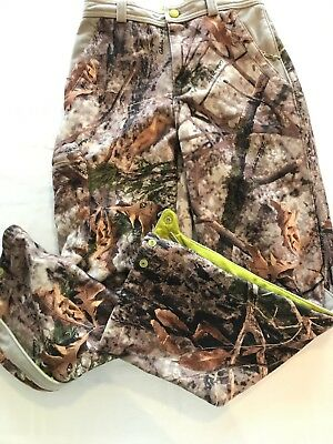 Cabela's  Zonz Woodlands Camo Fleece Lined Youth Large Zip Ankle TS8