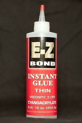 E-Z BOND SUPER GLUE (Cyanoacrylate) 16 OZ THIN 5 cps