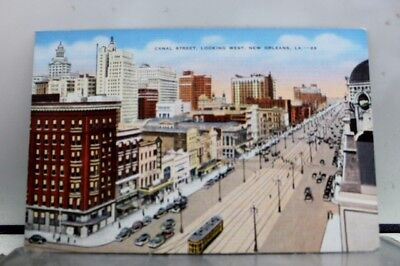 Louisiana LA Canal Street New Orleans Postcard Old Vintage Card View Standard PC