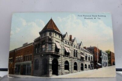 West Virginia WV First National Bank Bluefield Postcard Old Vintage Card View PC