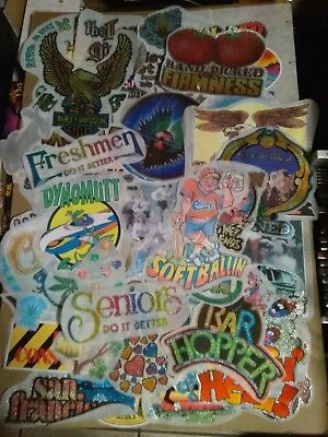 Large Lot of  Vintage Iron-On Transfers 1970s