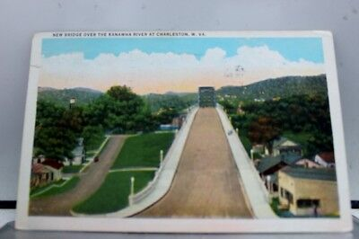 West Virginia WV Kanawha River Charleston Postcard Old Vintage Card View Post PC