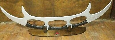 klingon inspired prop batleth stand made from wood.  011319