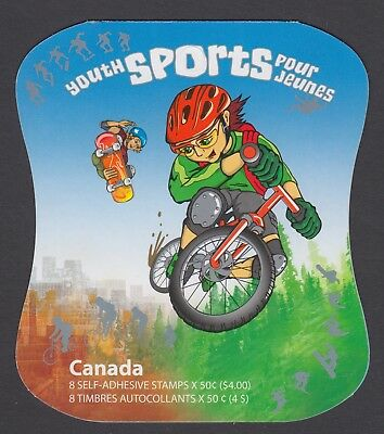 CANADA BOOKLET BK312 8 x 50c  YOUTH SPORTS