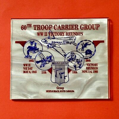 WWII Reunion 60th Troop Carrier Group Myrtle Beach SC Card Magnet 10 11 12 28