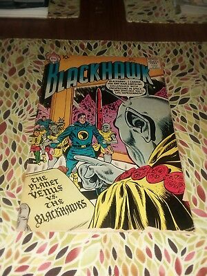 Blackhawk 129 dc comics 1958 SciFi Cover early silver age war previously quality