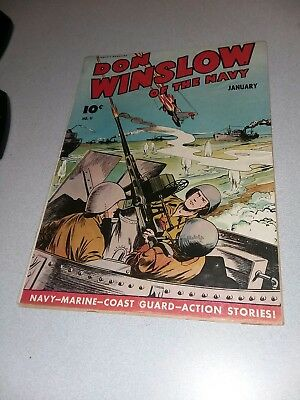 Don Winslow Of The Navy #11 Fawcett Comics 1943 Japanese pacific War Cover ww2