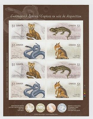 CANADA BOOKLET BK335 8 x 51c ENDANGERED SPECIES - 1