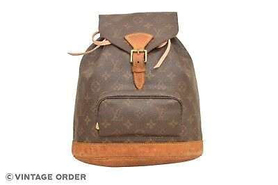 a77ee25890b8 Louis Vuitton Monogram Montsouris MM Backpack Rucksack M51136 - E03058