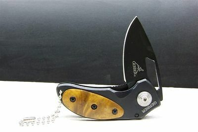 Penguin Small Camping Survival Outdoor w/Wood Handle Pocket Knife 7.5 cm closed