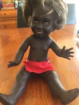 "Vintage Original & Beautiful Rare  ""bindi"" Indigenous Doll From Metti"