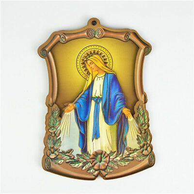 Wooden Religious Holy Virgin Mary in The Sky Picture Saint Picture Wall Plaques