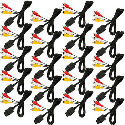 20PCS 6FT AV TV Composite Cable Cord For Nintendo Gamecube SNES GC N64 Game US
