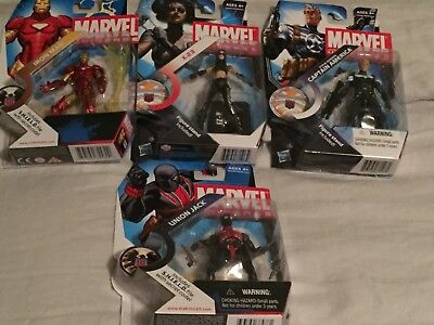 Marvel Universe 3.75 lot! X-23, Union Jack, Iron Man, Cap Lot Of 4 New