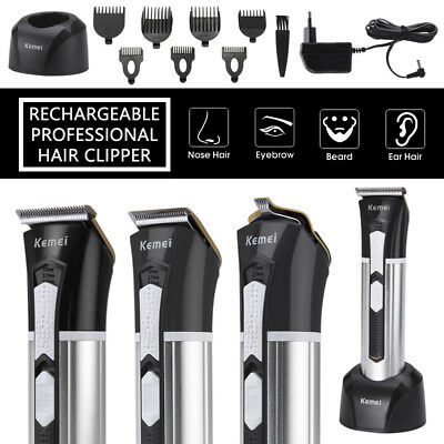 Pro Men's Clipper Trimmer Blade Grooming Hair Shaver Rechargeable Machine kit US