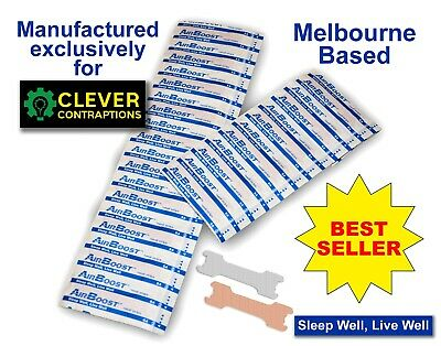 AirBoost Nasal Strips 30 Medium Size Anti Snore by Clever Contraptions